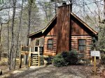 side exterior view- Blue Ridge cabin rental