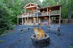 Blue Ridge Cabin Rentals-fRONT VIEW WITH TREE HOUSE SUITE