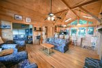 Blue Ridge Cabin Rentals-60 inch flat screen tv