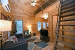 Blue Ridge Cabin Rentals-tree house living area