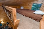 Blue Ridge Cabin Rental- Denali- Tree house sleeping loft