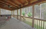rear porch-Ocoee River cabin rentals