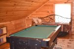 Blue Ridge Cabin Rentals- Pool table