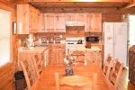 Open kitchen area-Blue Ridge cabin rentals-