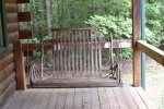 North Georgia cabin rentals- front porch