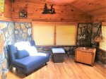 Time Out- Sunroom w futon and x- box game system-Blue Ridge Cabin Rental