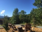 Fire Pit View- Blue Ridge Cabin Rental