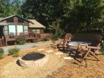 Time Out Campfire pit- Blue Ridge Cabin Rental
