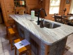 Kitchen Island Blue Ridge cabin rentals