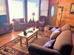 Time Out- Living Area- Blue Ridge Cabin Rental