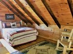 Blue Ridge cabin rentals--loft bedroom