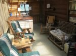 Blue Ridge cabin rentals--screened porch
