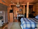 Blue Ridge cabin rentals--lower living area