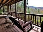 Blue Ridge cabin rentals- LOWER DECK