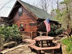 Outside living area- Blue Ridge cabin rentals-