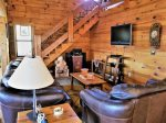 Blue Ridge cabin rentals- Living room