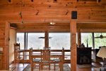 -Blue Ridge cabin rentals-dining room view