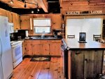 Blue Ridge cabin rentals-kitchen with granite counters