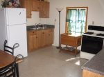 basement level kitchen-Ocoee River cabin rentals