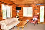 Upper living room-Ocoee River cabin rentals