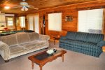 lower living room-Ocoee River cabin rentals