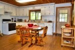 Upstairs kitchen-Ocoee River cabin rentals