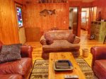 Toccoa river cabin rentals-living room