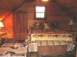 3rd floor king bedroom with half bath-Ocoee River cabin rentals