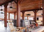 outdoor living area-Ocoee River cabin rentals