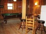 detached gameroom-Ocoee River cabin rentals