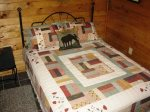 queen bedroom 1-Ocoee River cabin rentals