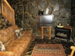 downstairs living area-Ocoee River cabin rentals