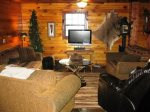 upstairs living area-Ocoee River cabin rentals