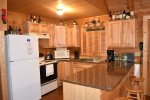 kitchen newly remodeled with granite -north Georgia cabin rental