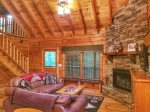 Wood burning fireplace-north Georgia cabin rental