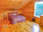 upstairs bedroom-Ocoee River cabin rentals