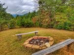 -Ocoee River cabin rentals New Campfire Pit area with a view