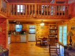 living and dining area-Ocoee River cabin rentals