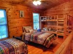 loft single bed-Ocoee River cabin rentals