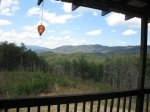 view from deck-Ocoee River cabin rentals