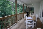 Blue Ridge Cabin Rentals-rear porch