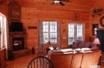 Coon`s Den living area-North Georgia Cabin Rental