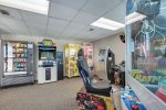 Beach House Video Game Room -- Your children will love it