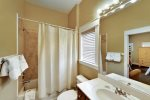 Private ensuite bath for 2nd king master bedroom on 2nd floor of main hous