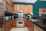 Professional Kitchen with Sub Zero Refrigerator, Viking Stove, Granite counter