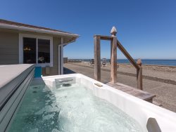 Enjoy the view while relaxing in the hot tub
