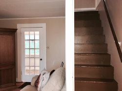 Stairs to additional sleeping nooks