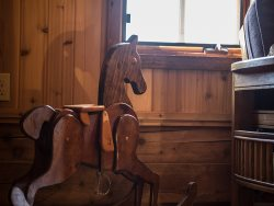 There are nice touches... one of the owners special finds is this rocking horse