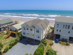 Enjoy this family-sized 5 bedroom beachfront vacation rental home in Surf City.
