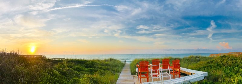 Just Steps Away From The Sandy Beach Enjoy This Oceanfront Vacation Home In Topsail Near South End Of Island